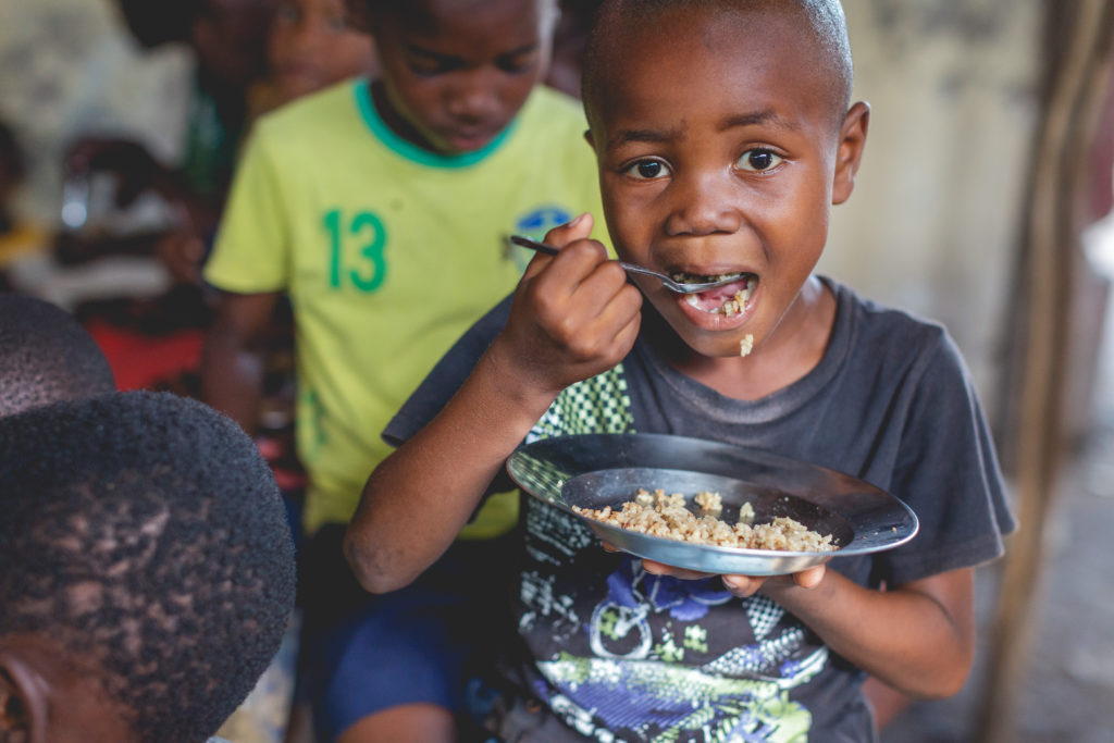 Over 3,000 Children Being Fed in 14 Sites